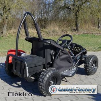 quadfactory bottrop kinder gokart buggy sq80gk 2 80ccm schwarz o mit 1000 watt motor. Black Bedroom Furniture Sets. Home Design Ideas