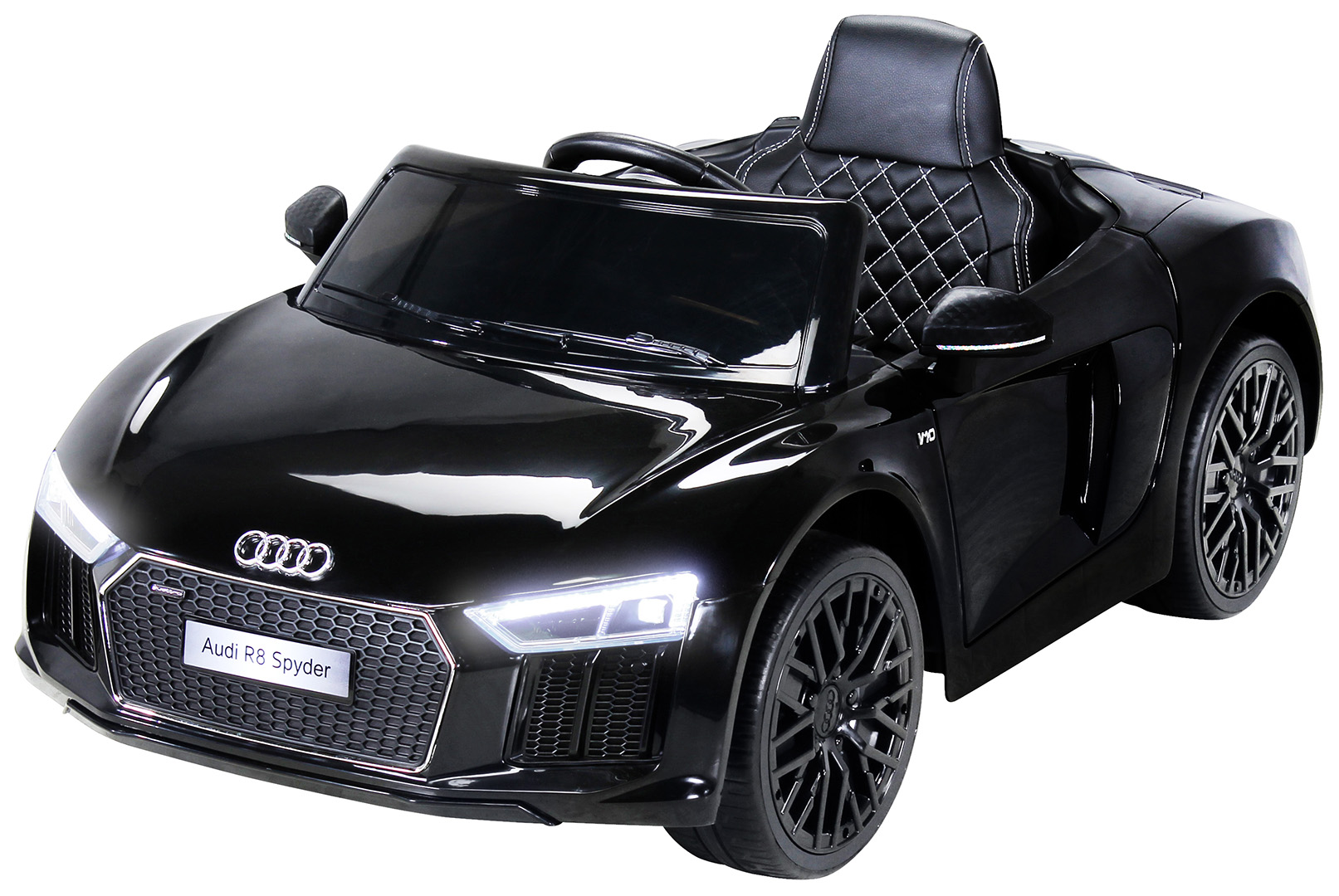 quadfactory bottrop kinder elektroauto audi r8 spyder modell 2018 lizenziert. Black Bedroom Furniture Sets. Home Design Ideas