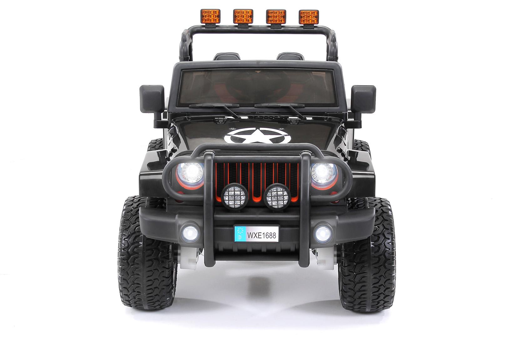 quadfactory bottrop kinder elektroauto wrangler offroad jeep allrad 2 sitzer 4 x 35watt. Black Bedroom Furniture Sets. Home Design Ideas