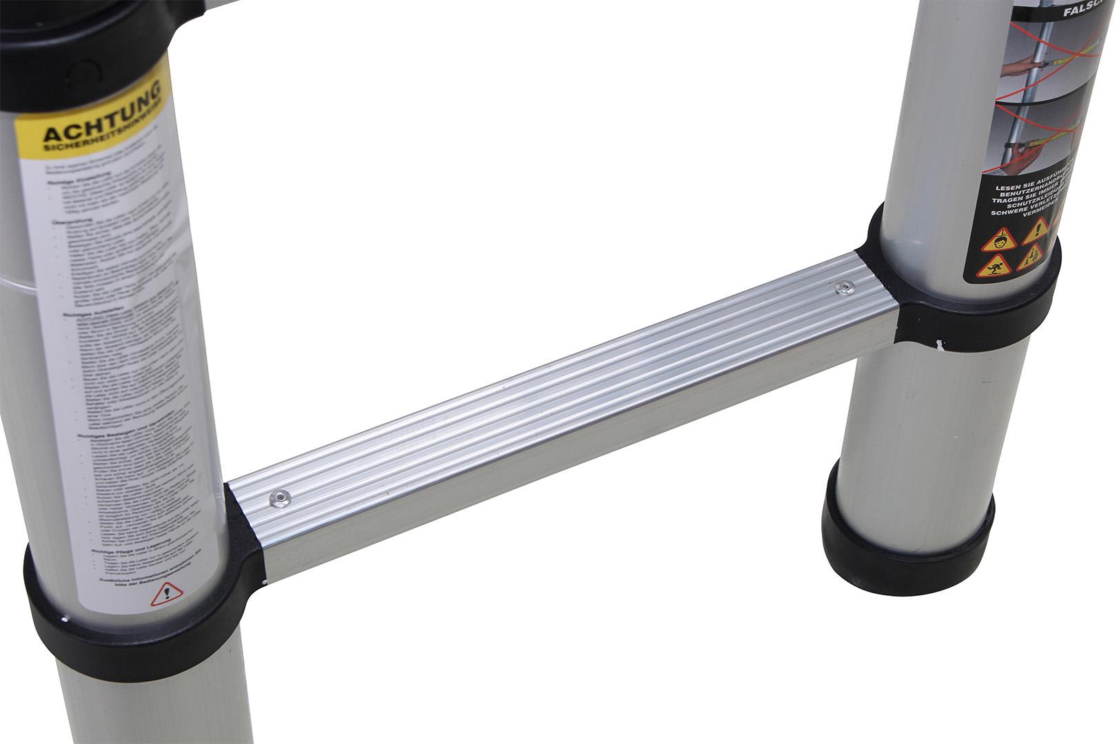 Teleskopleiter test ausziehleitern in verschiedenen größen