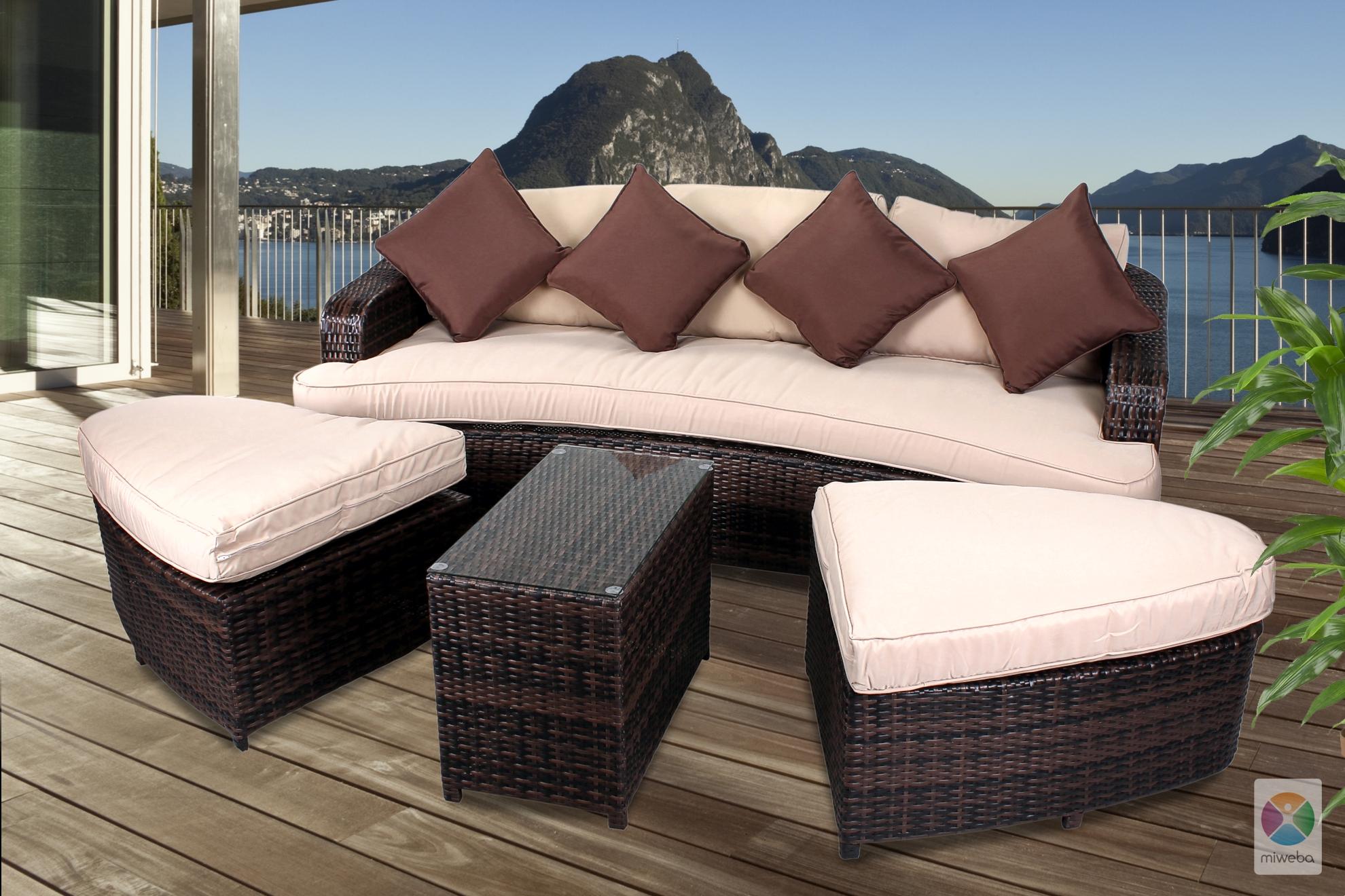 quadfactory bottrop miweba caribbian polyrattan lounge. Black Bedroom Furniture Sets. Home Design Ideas