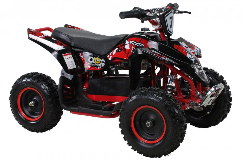 Kinder Elektro Miniquad Fox XTR 1000 Watt Schwarzer Body