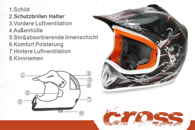 Kindermotorradhelm im Coolen Design