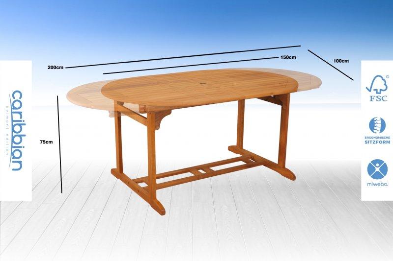 quadfactory bottrop miweba caribbian holz sitzgarnitur belmont small 130 tisch mit 4. Black Bedroom Furniture Sets. Home Design Ideas